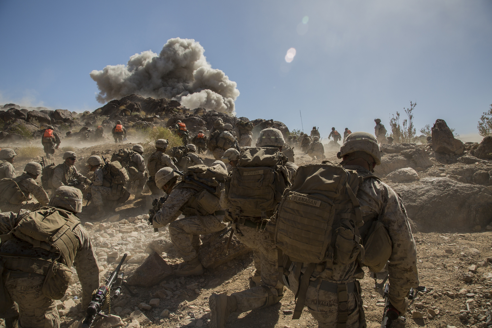 Marines conducting a training exercise, not executing judgment